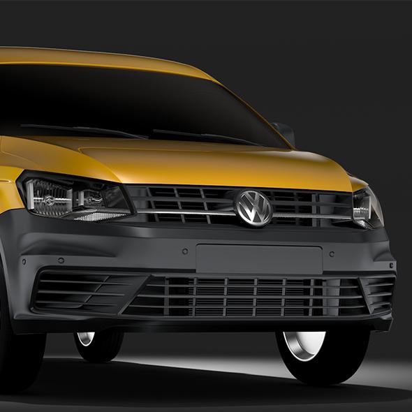 Volkswagen Caddy Panel Van L2 2017 - 3DOcean Item for Sale