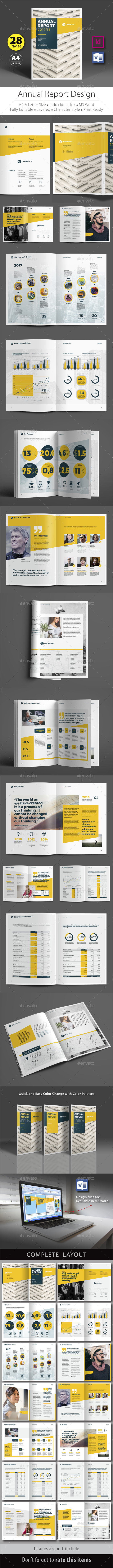 Annual Report Design Template V.7 - Corporate Brochures