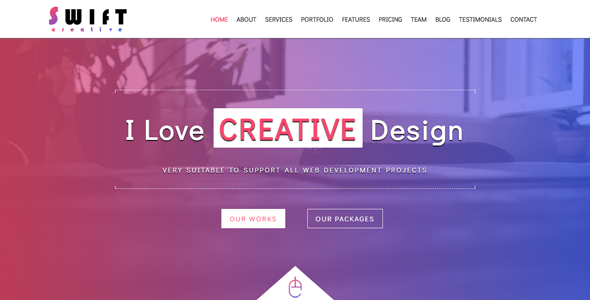 Swift - Creative One Page Template