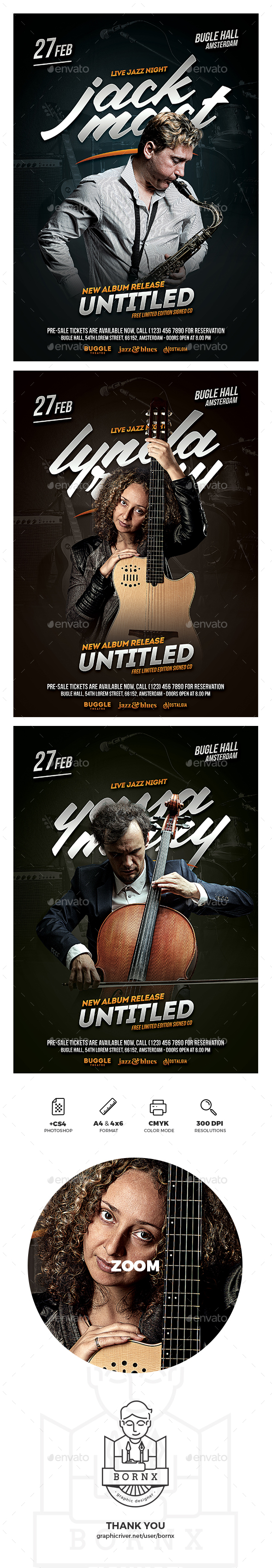 Jazz Musician Flyer - Concerts Events