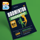 Badminton Tournament Flyer - GraphicRiver Item for Sale