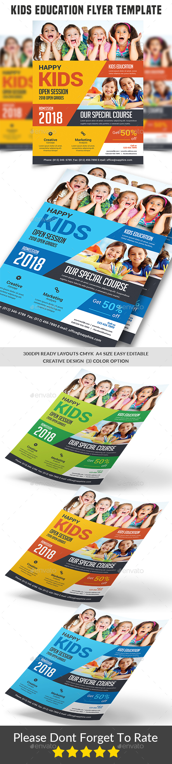 Kids Education Flyer template - Corporate Flyers
