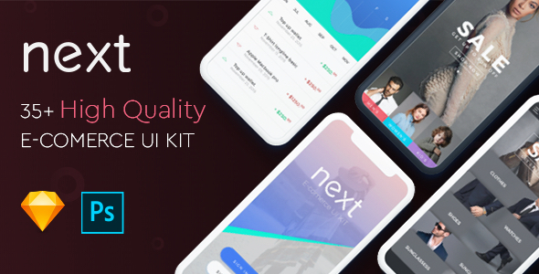 Next Ecommerce - UI Kit - Sketch Templates