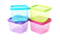 Colourful Square Plastic Containers - PhotoDune Item for Sale