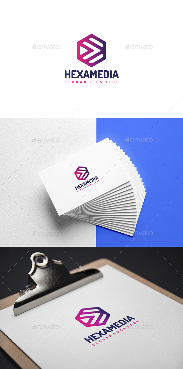 Hexagon Media Logo - Company Logo Templates