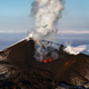 Aerial View of Stunning Scenery Eruption Volcano Landscape of Kamchatka Peninsula - PhotoDune Item for Sale