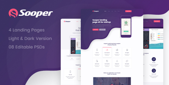 Sooper - Mobile, Desktop, Web App Showcase Template