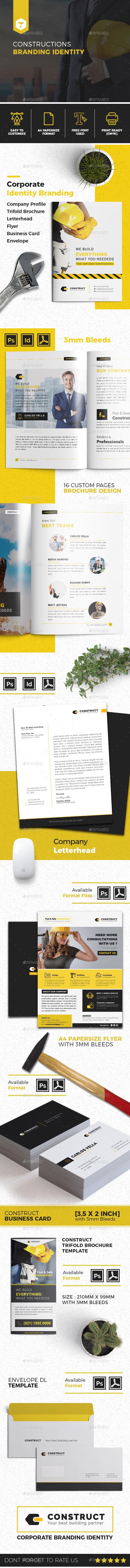 Constructions Corporate Branding Identity - Print Templates