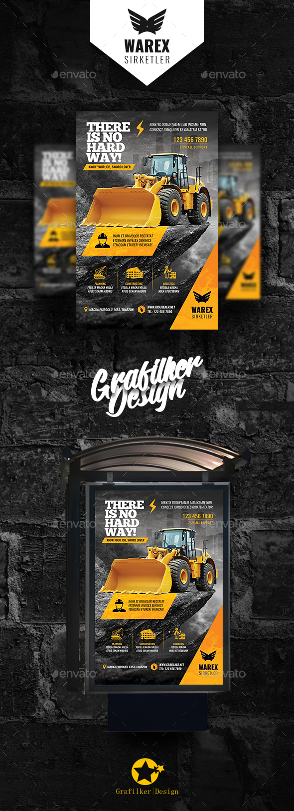 Construction Poster Templates - Signage Print Templates