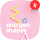 Minimalist Pop Geometric Shapes Backgrounds