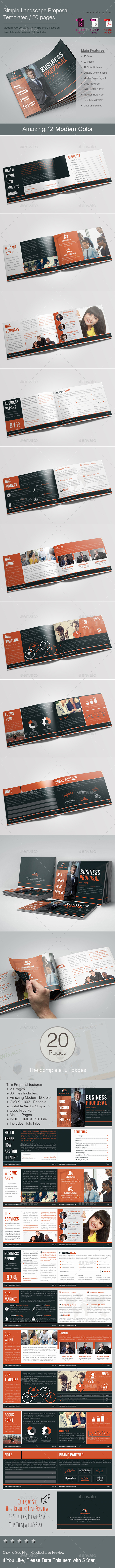 Simple Landscape Proposal Templates - Corporate Brochures