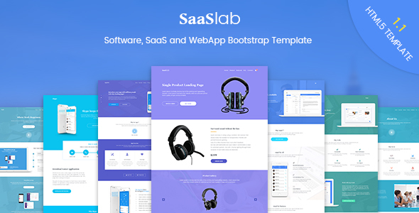 Image of SaaSLab - Software, SaaS and WebApp Bootstrap Template