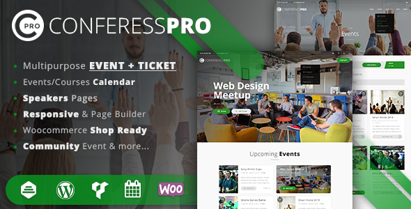 Event Ticket WordPress Theme - ConferessPRO - Events Entertainment