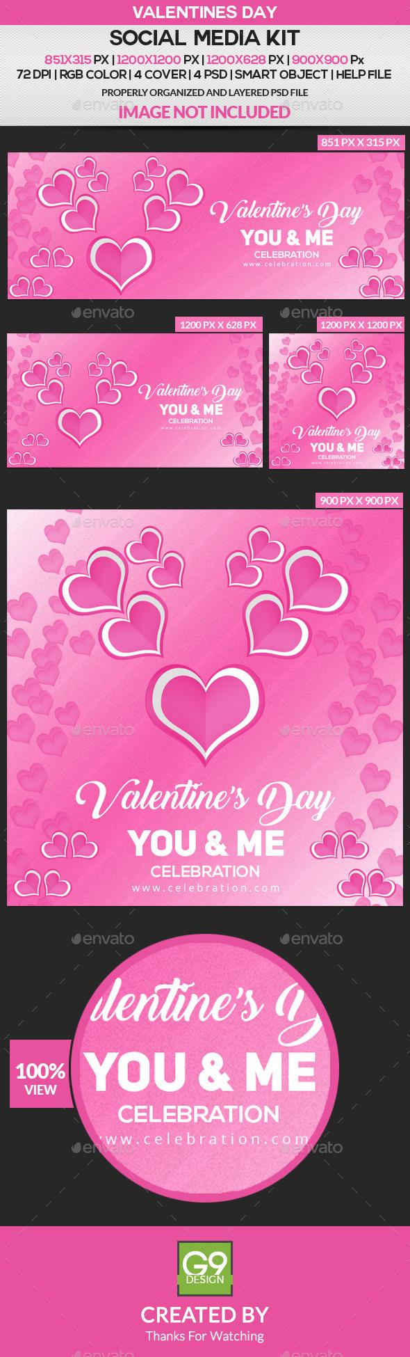Valentines Day Social Media Kit - Miscellaneous Social Media