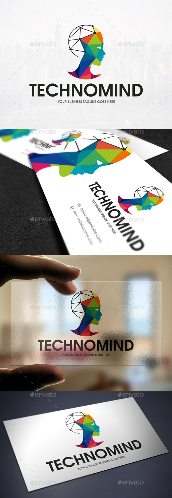 Tech Mind Logo Template - Humans Logo Templates