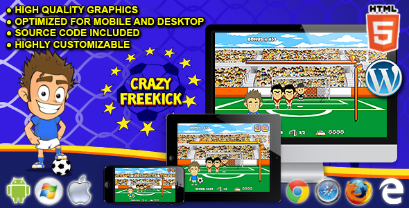 Crazy Freekick - HTML5 Sport Game - CodeCanyon Item for Sale