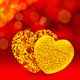 Two Valentine Glitter Golden Hearts (V1) - VideoHive Item for Sale