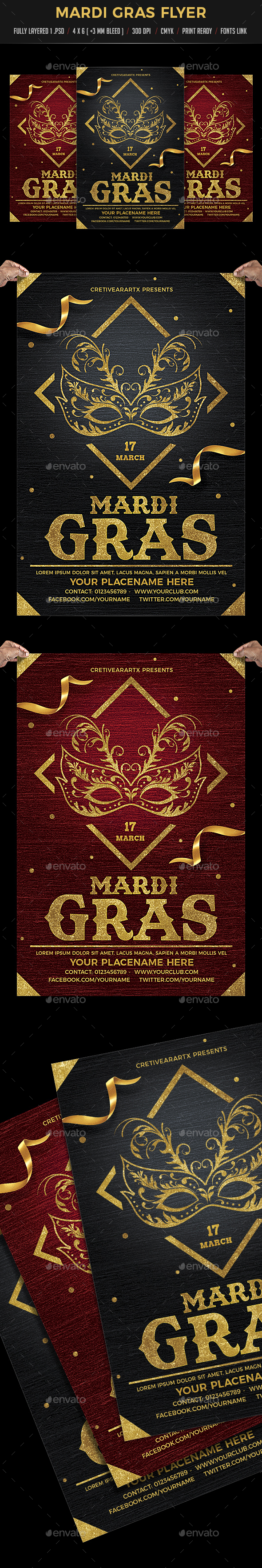 Madri Gras Flyer - Events Flyers