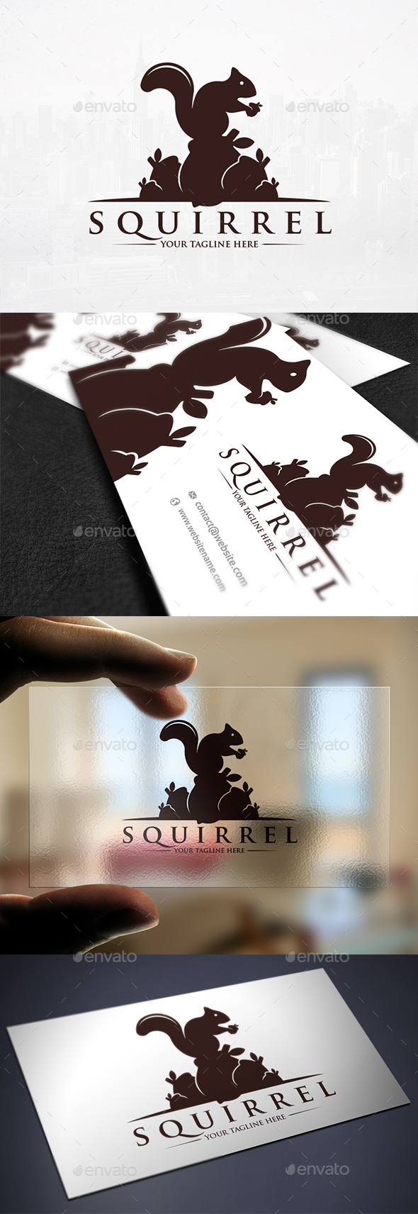 Squirrel Food Logo Template - Animals Logo Templates