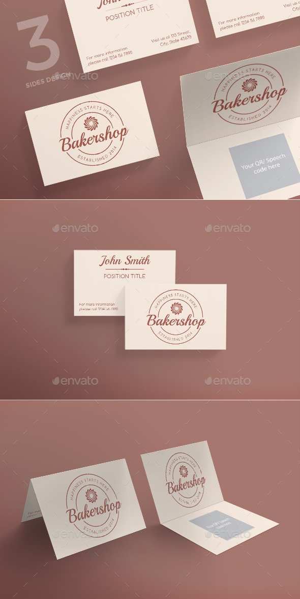 Baker Shop Business Card - Corporate Business Cards