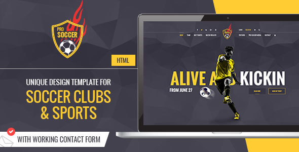 Soccer Acumen - Soccer and Football Club HTML Template - Entertainment Site Templates