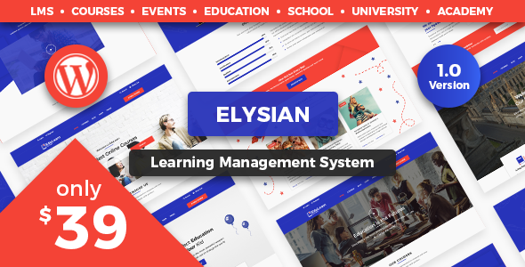 Elysian - WordPress School Theme