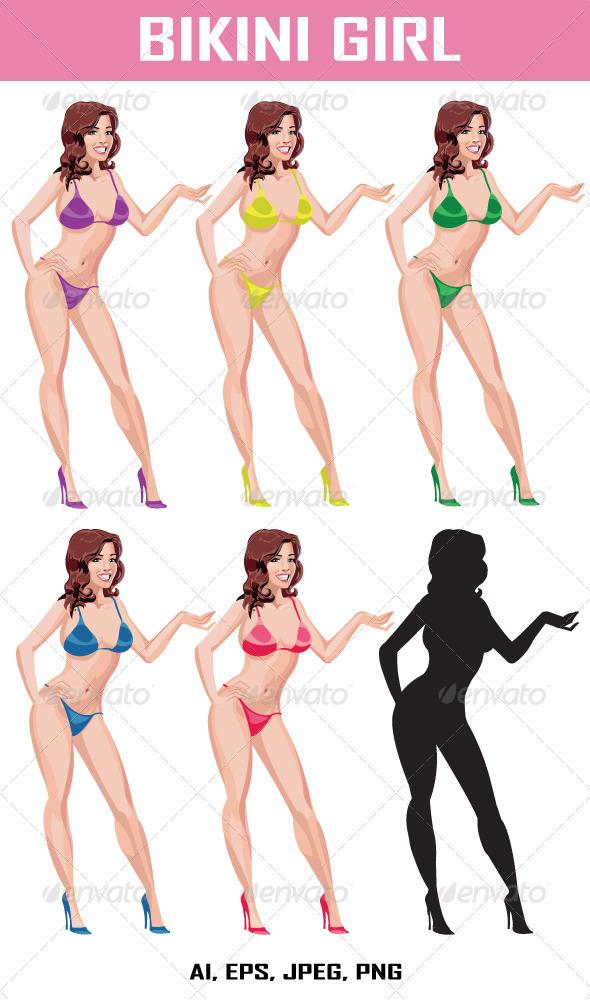 Bikini Girl - People Characters