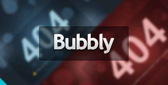 Bubbly Error Page - 404 Pages Specialty Pages