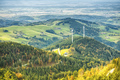 two wind mill power plant in the Rhine valley area - PhotoDune Item for Sale