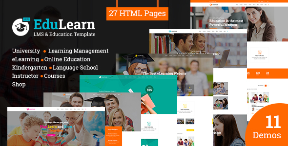 EduLearn Hub - Multi-Purpose LMS & Education Template