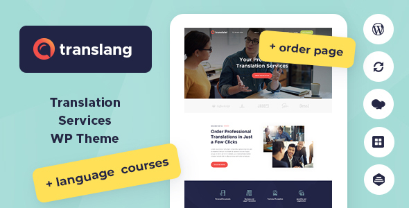 Translang | Translation Services & Language Courses WordPress Theme - Education WordPress