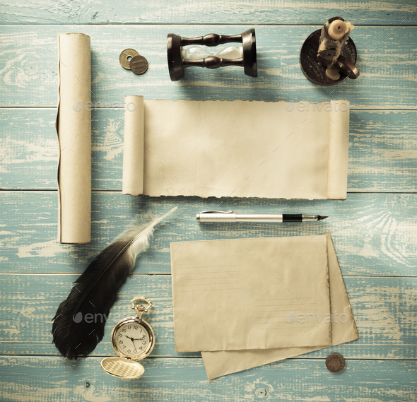 retro concept at old wood - Stock Photo - Images