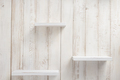 set of wooden shelves on wall background - PhotoDune Item for Sale