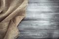 burlap hessian sacking on wood - PhotoDune Item for Sale