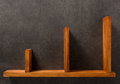 wooden shelf at concrete wall - PhotoDune Item for Sale