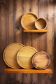wooden kitchenware at shelf - PhotoDune Item for Sale