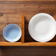 plate at kitchen wooden shelf at wall - PhotoDune Item for Sale