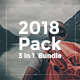 2018 Pack - 3 in 1 Creative Powerpoint Template