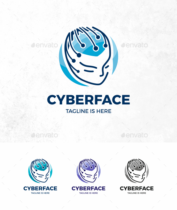 Tech Face Logo - Humans Logo Templates