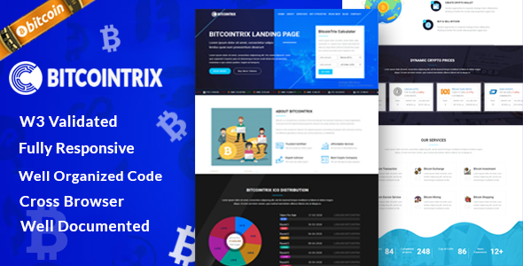 Image of BitcoinTrix | Bitcoin and Cryptocurrency Landing Page