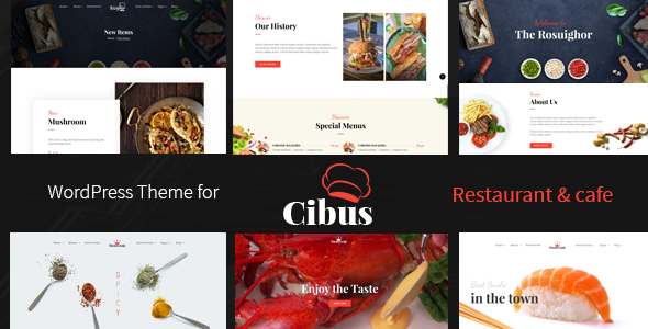 Cibus - Restaurant & Cafe WordPress Theme - Restaurants & Cafes Entertainment