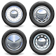 Vector Car Tires with Chrome Disks - GraphicRiver Item for Sale