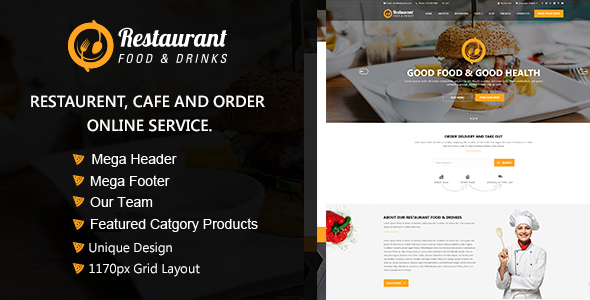 Image of Restaurant OpenCart Theme