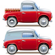 Vector Red Pickup Truck and Minivan - GraphicRiver Item for Sale