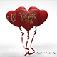 "Heart balloons ""valentines day"""
