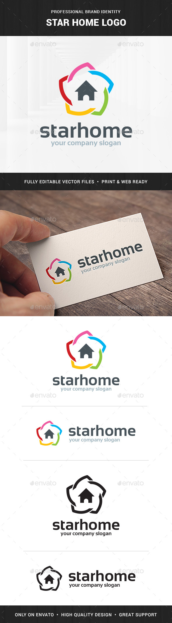 Star Home Logo Template - Buildings Logo Templates