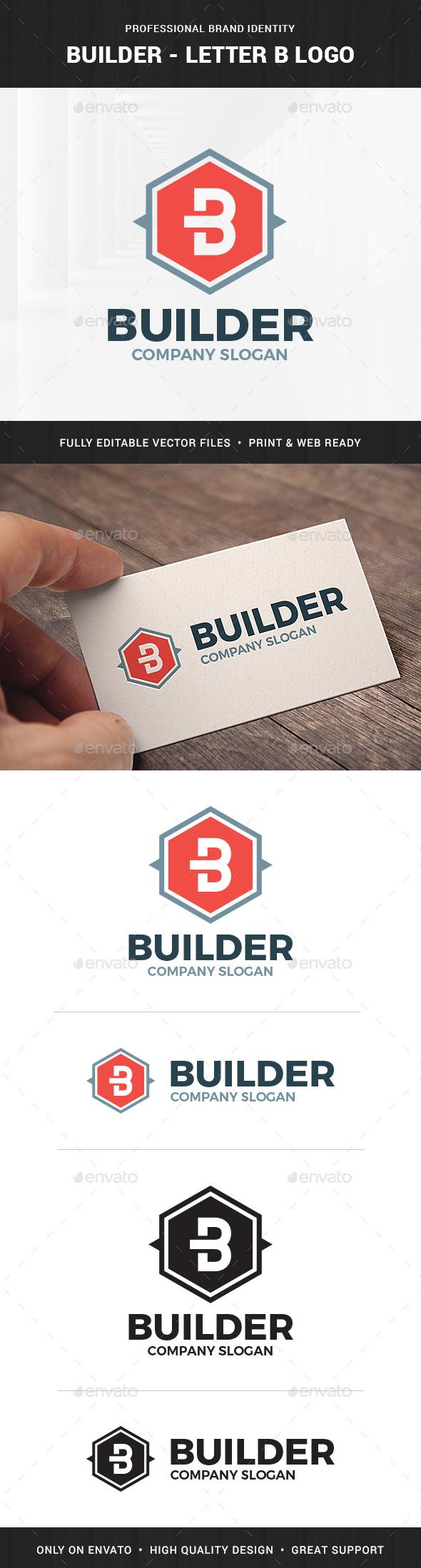 Builder - Letter B Logo - Letters Logo Templates