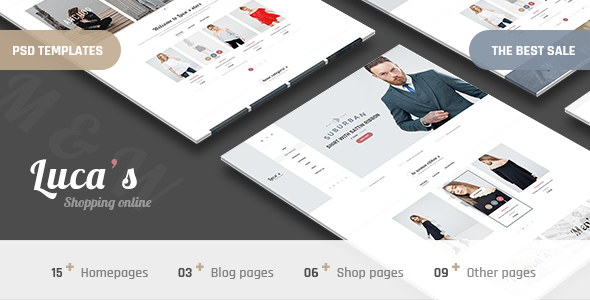 Luca's - Minimal Shop PSD Templates - Fashion Retail