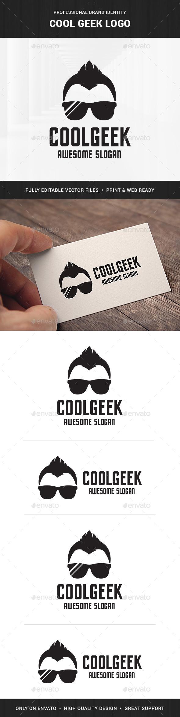 Cool Geek Logo Template - Humans Logo Templates