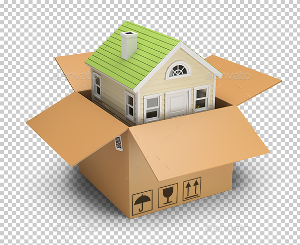 House in a Box - Objects 3D Renders